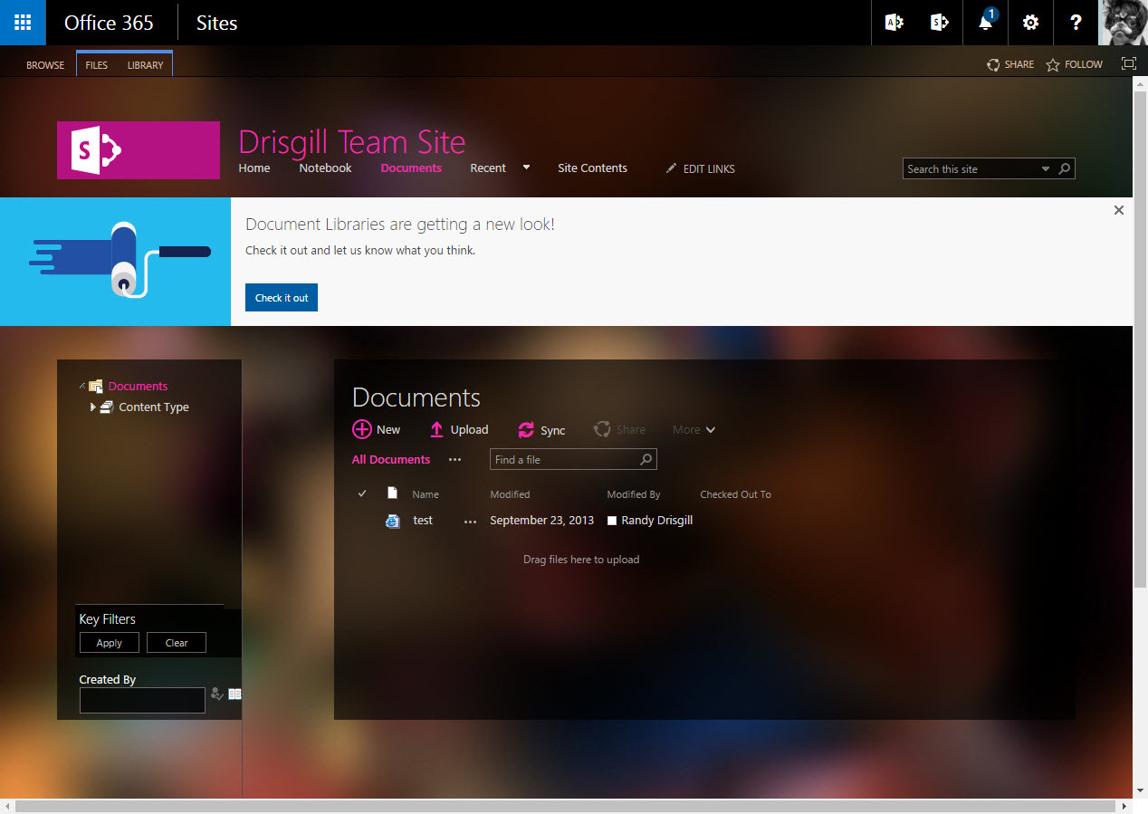 SharePoint Online Doc Lib UI Update April 2016 Impact On